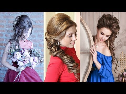 Wedding hairstyle to the side from Inessa Myatenko. Свадебная прическа на бок.