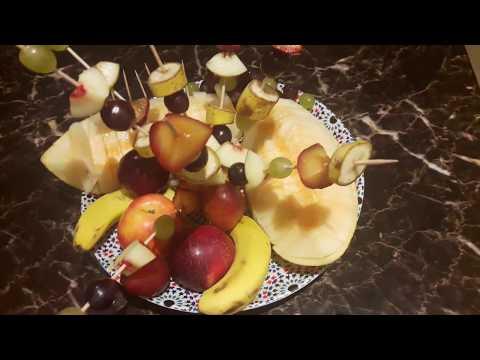 présentation de plat de fruits تقديم طبق فواكه بطريقة رائعة