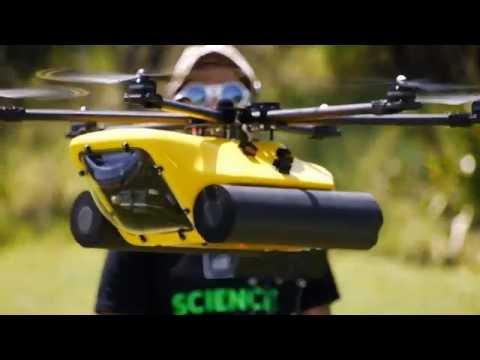 AUT Waterproof Research Drone - HexH2O test flight
