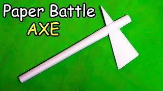 How to make a Paper Battle Axe | Easy | Tutorial