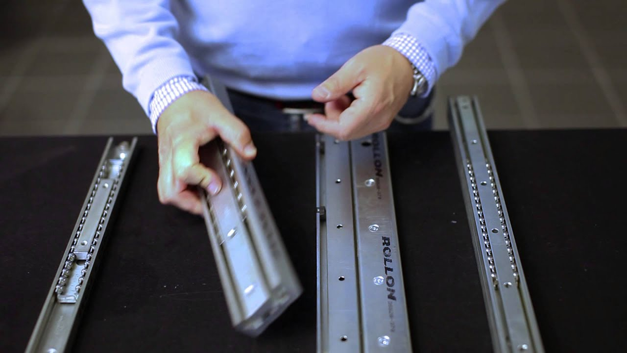 Rollco Heavy Telescopic Rails Youtube