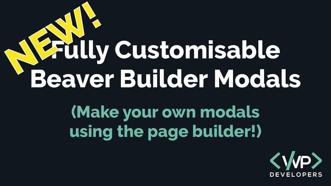 Beaver builder popups youtube beaver builder popups malvernweather Choice Image
