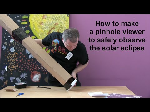 How to make a pinhole viewer to safely observe the solar ...