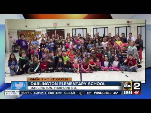 Darlington Elementary School students give a GMM shout-out