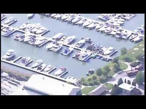 Boat catches fire at Cedar Point Marina