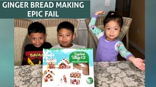 EPIC FAIL!!! GINGERBREAD MAKING #gingerbread #christmas #coolkidsfuntime