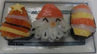 ❅☃ Суши Дед Мороз к Новому Году и Рождеству Sushi Christmas