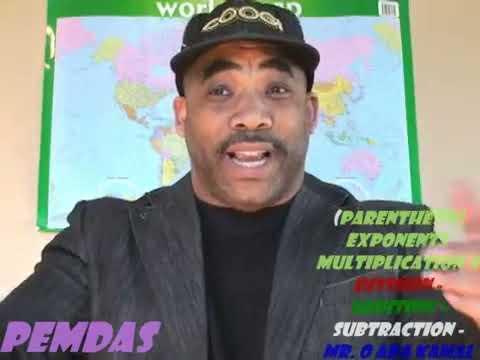 PEMDAS Mr. O Rap aka Kamal Imani  (Algebra)