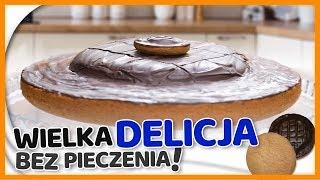 Domowe DELICJE z kruchą czekoladą i owocową galaretką - SZYBKIE CIASTO BEZ PIECZENIA