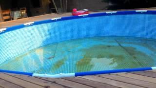 Decking na piscina INTEX 12.600 L Filtro com areia