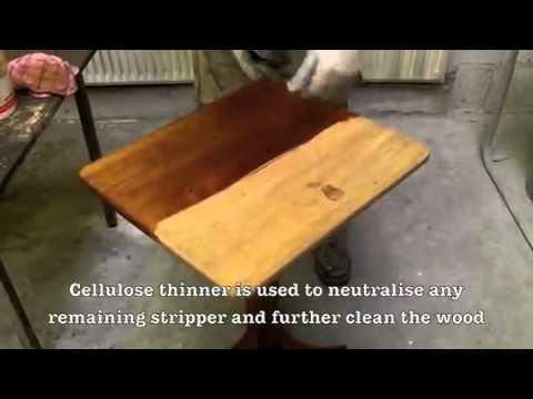 Victorian Table Restoration in Four Minutes - www.goantique.co.uk
