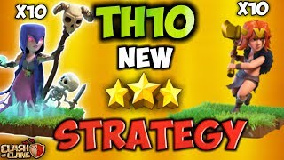 VAWITCH | Th10 BEST New 3 Stars War Attack Strategy | Clash Of Clans