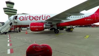 LAST Air Berlin TRIP REPORT!! FINAL DAY of OPERATIONS  Dusseldorf to Berlin TXL  Air Berlin A320