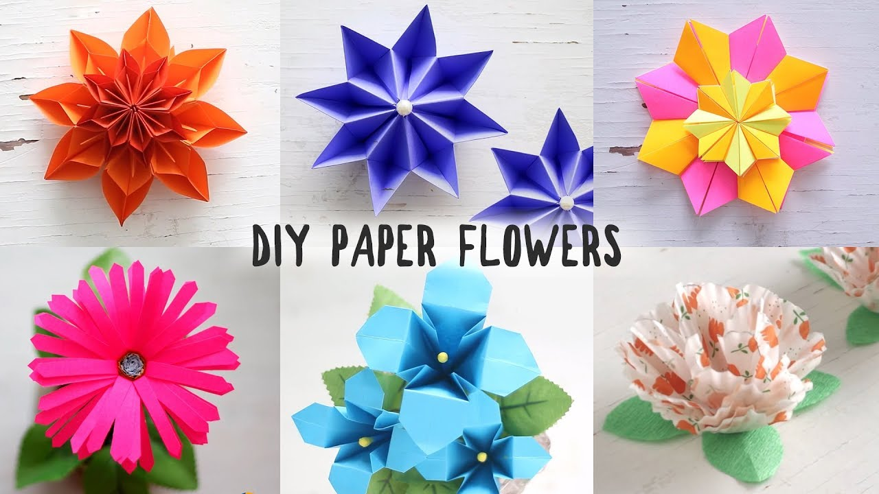 6 easy diy paper flowers youtube 6 easy diy paper flowers mightylinksfo
