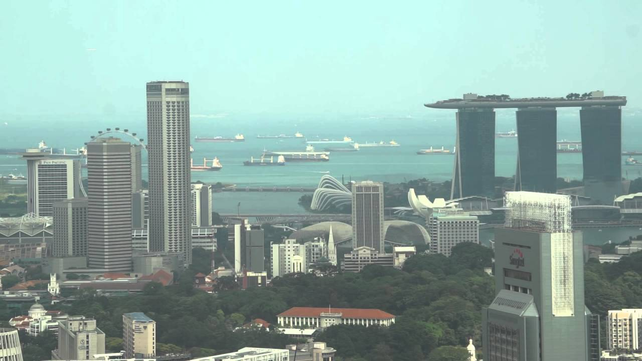 Singapore, 2 Orchard Turn, Level 56, view from ION Sky