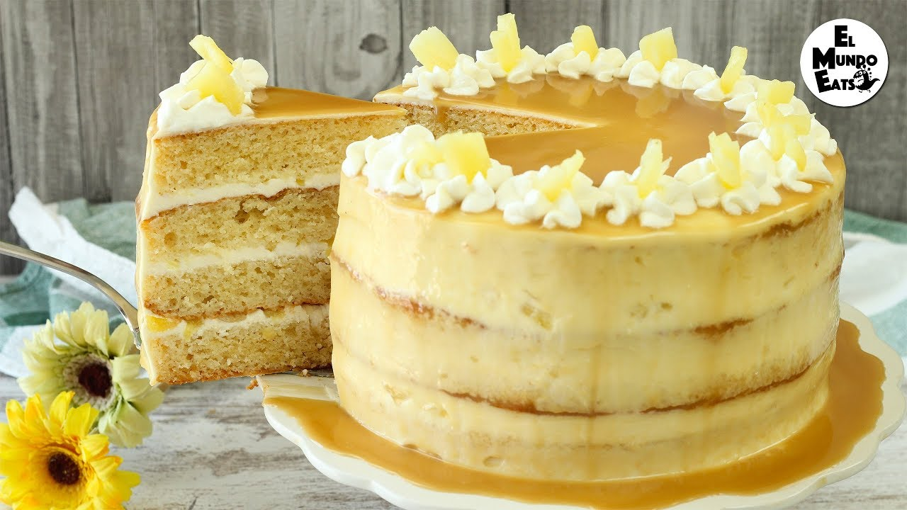 Caramel Pineapple Cake Youtube