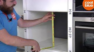 Hoe bepaal ik de inbouwmaten van een oven of magnetron?