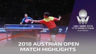 Xu Xin vs Liam Pitchford I 2018 ITTF Austrian Open Highlights (1/2)