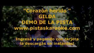 "Gilda  ""Corazon herido"" DEMO PISTA KARAOKE"