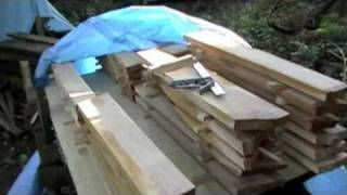 Air Drying Cherry Wood