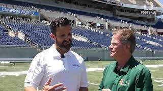 Spring Football Recap | Manny Diaz with Joe Zagacki | 4.20.19