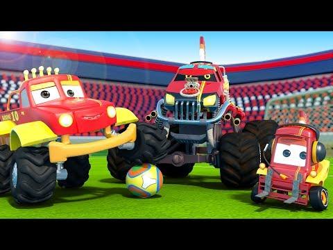 monster-truck-dan-plays-soccer-|-cartoons-for-kids