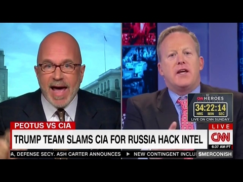 CNN Smerconish, RNC Sean Spicer Shouting Match Interview on Trump, CIA, Russia Hack [full]