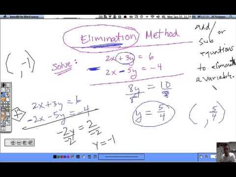 Algebra 2 Section 3-2 Solve Systems Algebraically (part 2 ...