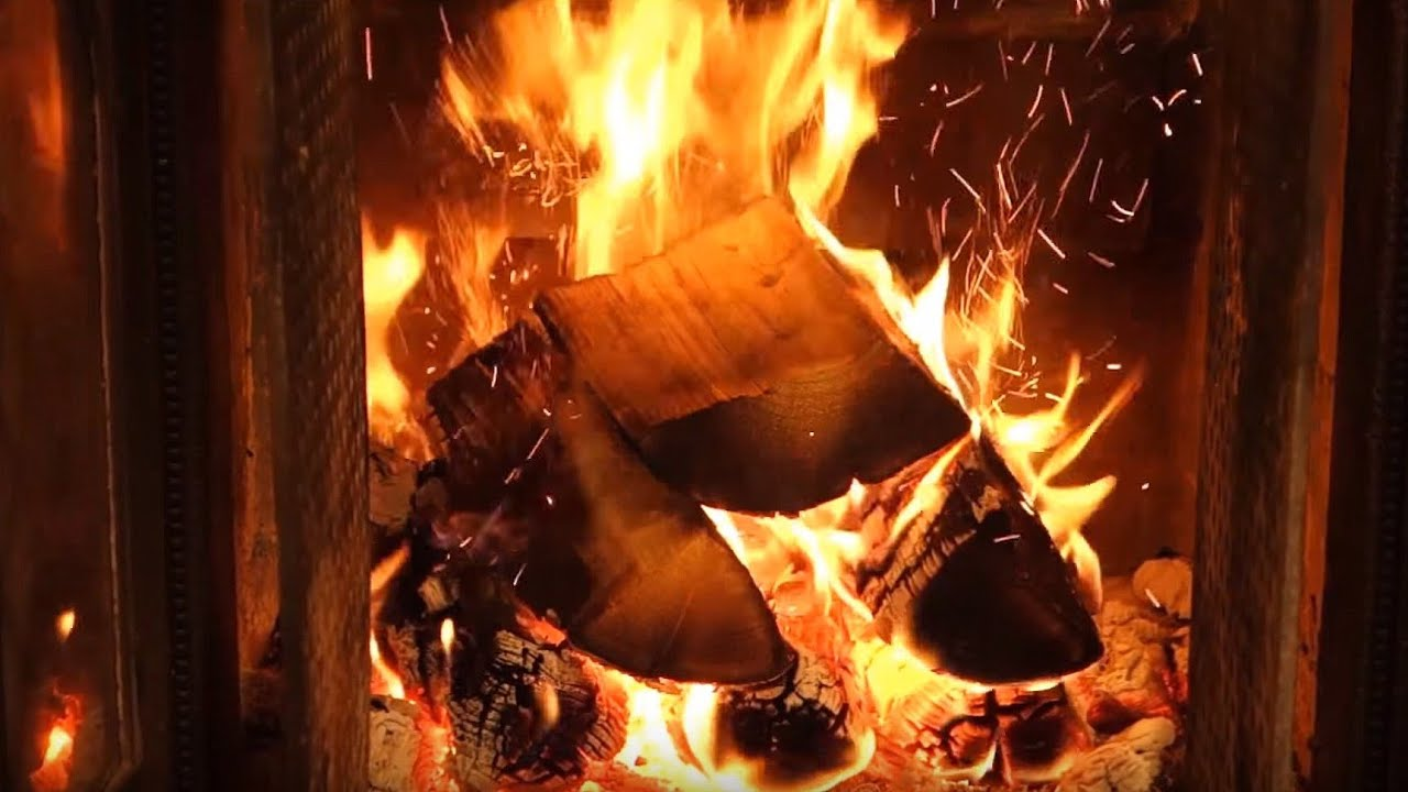 Official Christmas Fireplace 🔥 2 HOURS Christmas Music Carols - NO ...