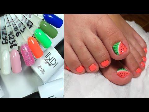 ❤ ПЕДИКЮР от А до Я ❤ новинки RuNail INDI ❤ рисуем АРБУЗ на ногтях ❤