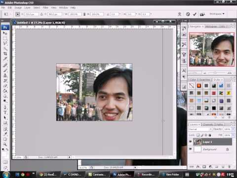 การเอารูปใส่ photoshop