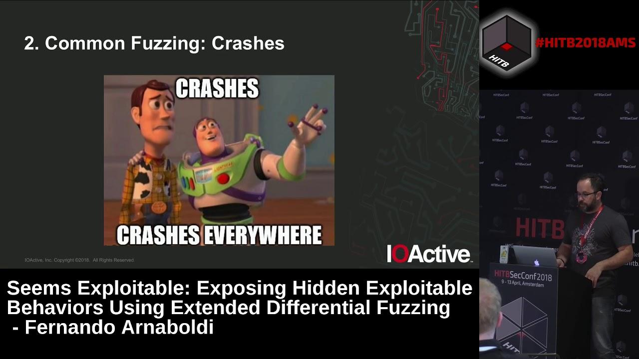#HITB2018AMS D2T2 - Exposing Hidden Exploitable Behaviors Using EDF - Fernando Arnaboldi