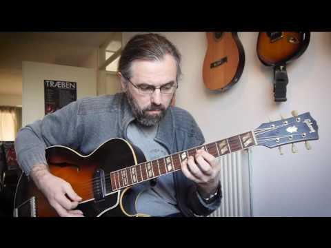 Chord melody soloing while laying down a groove - 1953 Gibson ES175