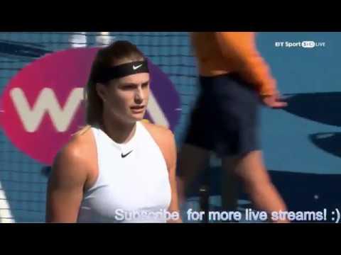 HOBART 2018 - Eugenie Bouchard vs Aryna Sabalenka - Full Highlights