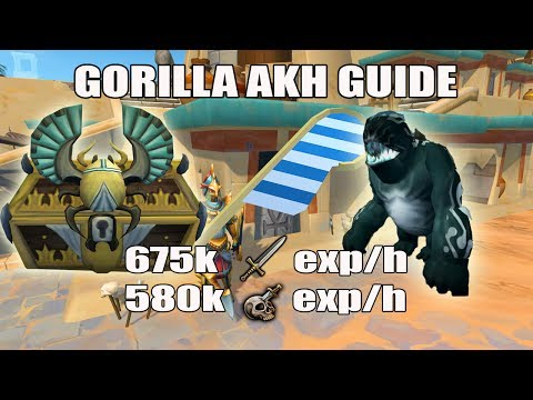 [Runescape 3] Gorilla Akh Slayer Guide | Soul Devourers | 675k Melee Exp/h | 580k Slayer Exp/h