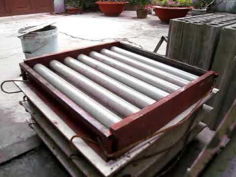 Sản xuất gạch BT bọt bằng thủ công