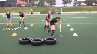 Field hockey drills to do at home and at the practice field for beginners