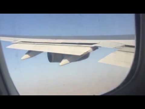BA 747 landing into Kuwait International Airport