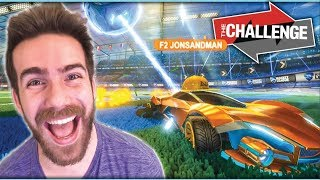 1 SECOND MODDED RUMBLE CHALLENGE AGAINST A ROCKET LEAGUE PRO!