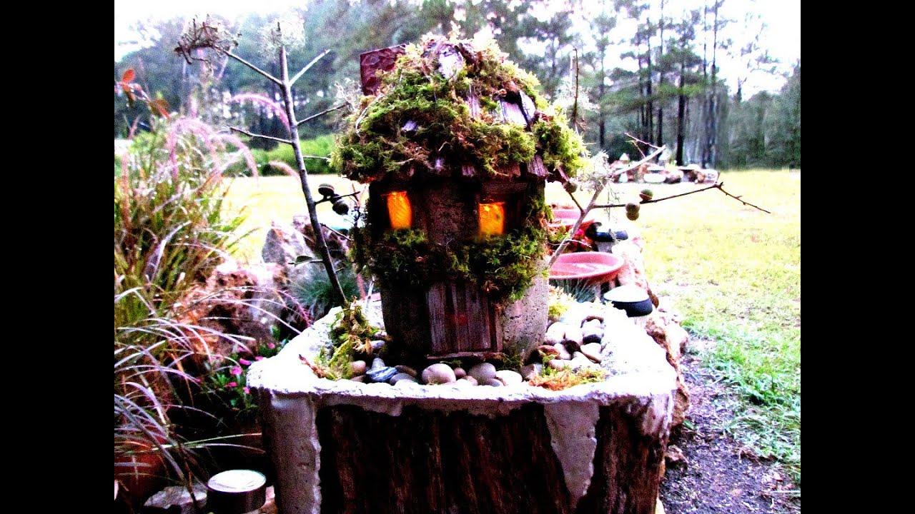How To Create A Hypertufa Fairy House Little Cedar Shingles In Ga.
