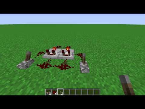 Minecraft 1.8 Super Simple XOR Gate Tutorial