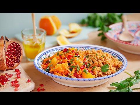recette-de-couscous-aux-légumes-du-soleil,-salade-de-crudités,-vinaigrette-orientale