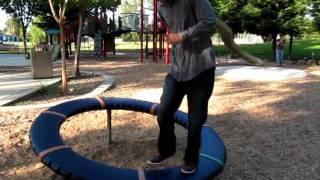 weird spinning wheel on playground