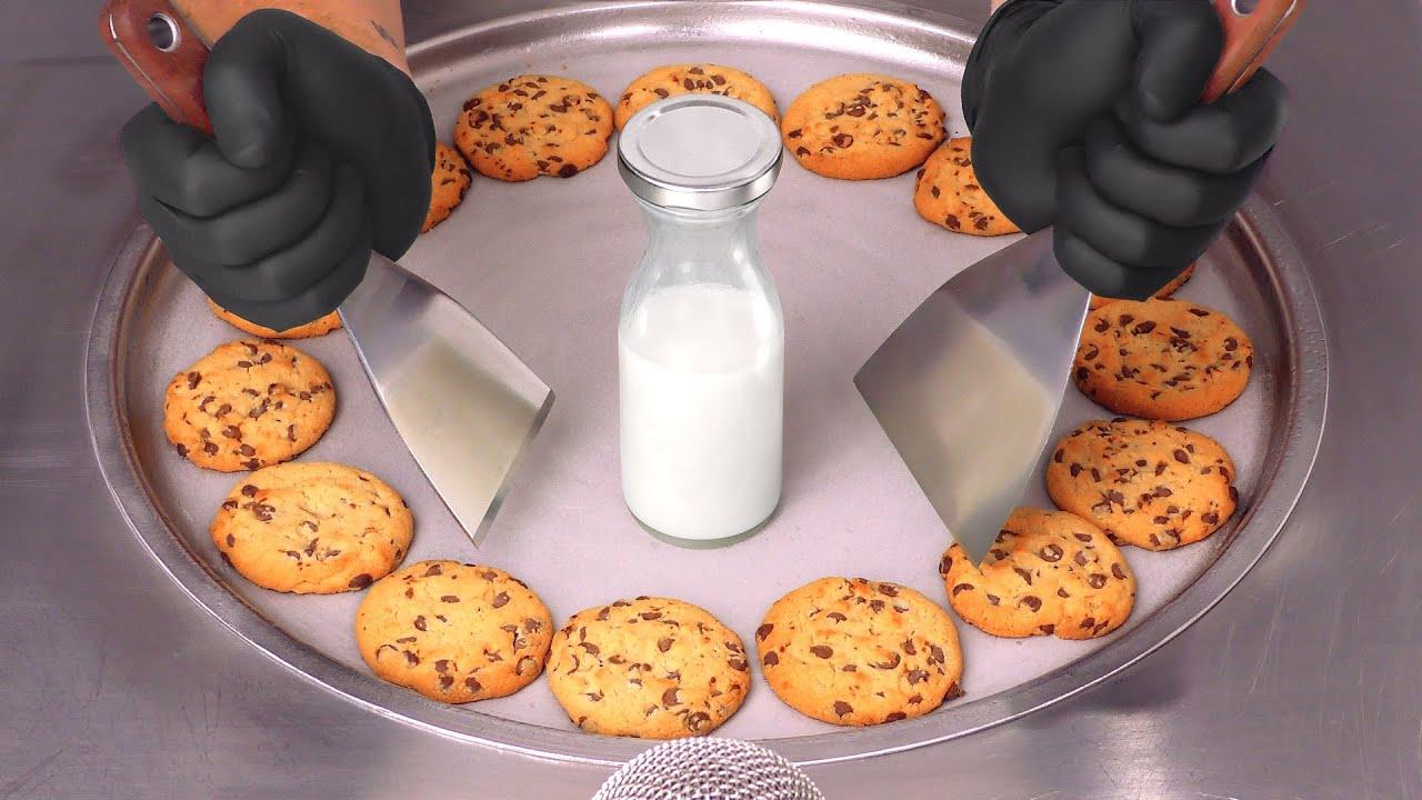 Chocolate Chip Cookies - Ice Cream Rolls   ASMR