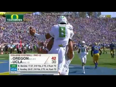 College Football Oregon Ducks Vs The UCLA Bruins