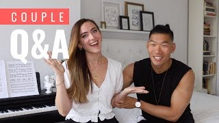 COUPLE Q&A   AMWF Interracial Relationship   Levitate Style Video
