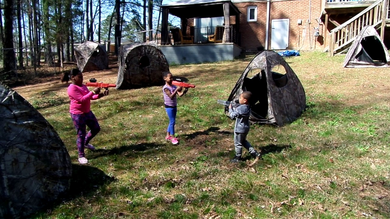 Awesome Backyard Laser Tag Birthday Party Images