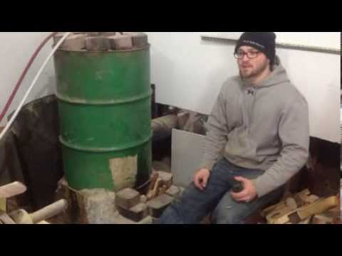Rocket Stove Boiler 200 Setup To Heat My Home And Shop