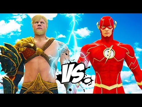 THE FLASH VS AQUAMAN - EPIC SUPERHEROES BATTLE