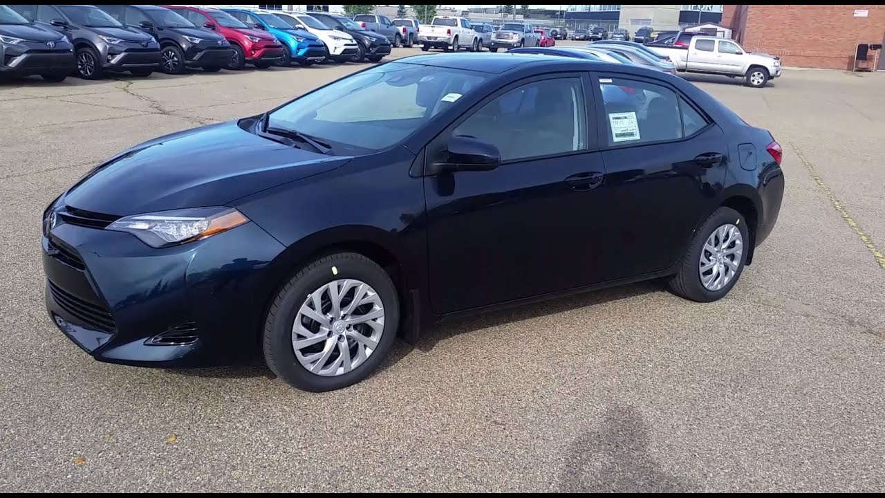 Camry Le Vs Se 2018 >> 2017 Toyota Corolla LE Galactic Aqua Mica Walk around and detailed Review - YouTube